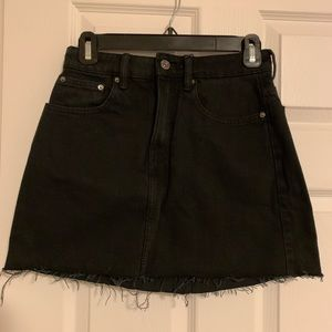 Zara Black Denim Skirt